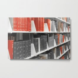 Only Red Books Metal Print