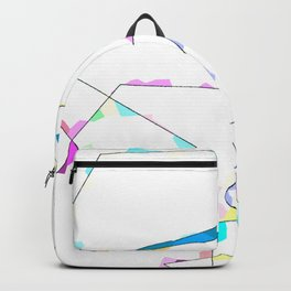 abstract lines and colors Backpack