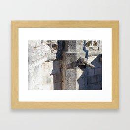 Gargoyle tower of Belem Framed Art Print