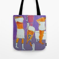 bath Tote Bags featuring Bath by Barbara Muth