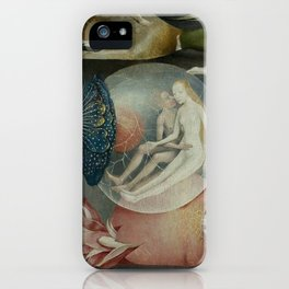 Lovers in a bubble - Hieronymus Bosch iPhone Case