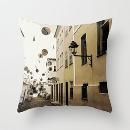 signs in the sky Throw Pillow