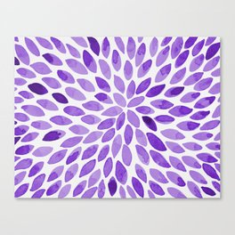 Watercolor brush strokes - ultra violet Canvas Print