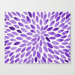Watercolor brush strokes - ultra violet Canvas Print