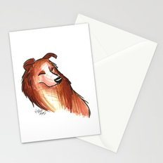 Brush Breeds-Rough Collie Stationery Cards