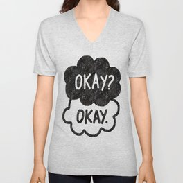 OKAY?OKAY THE FAULT IN OUR STARS TFIOS HAZEL AUGUSTUS CLOUDS Unisex V-Neck