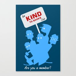 Be kind to books club Canvas Print