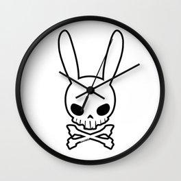 Skull Bunny Wall Clock