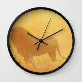 Wild Sunset (Profile of Lion) Wall Clock