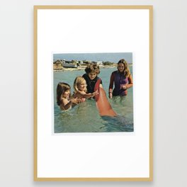 Wait, I Thought It Was Shark Week? Framed Art Print