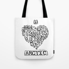 I Heart Arctic By Joseph Winters Tote Bag