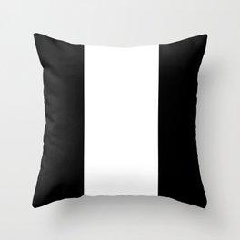 Black Contrast Abstract Art Throw Pillow