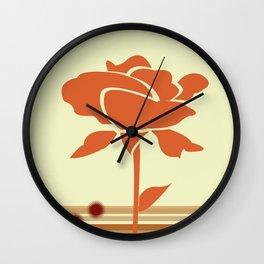A Single Rose in My Garden Wall Clock