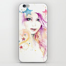 Galaxy Woman iPhone Skin