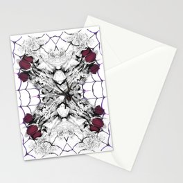 Roses Black Widow Stationery Cards