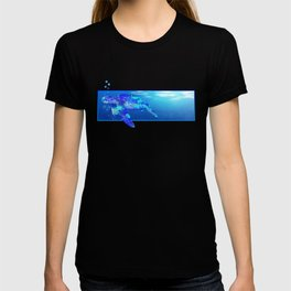 Underwater Swimming Sea Turtle T-shirt