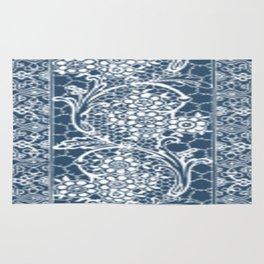 Vintage Lace Navy Blue Rug