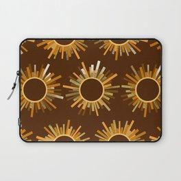 Art Deco Starburst in Brown Laptop Sleeve