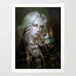 Alucard. Castlevania Symphony of the Night Art Print