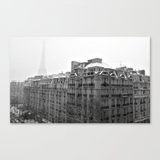 Paris Snow Canvas Print