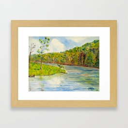 Pleasant Day at Ogle Lake Framed Art Print