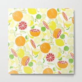 Citrus Zing (white) Metal Print