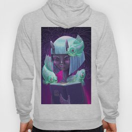 Girl with book Hoody