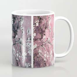 Vincent Van Gogh Almond Blossoms Panel Dark Pink Eggplant Teal Coffee Mug