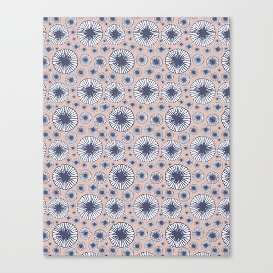 Candy Floral Pattern Canvas Print