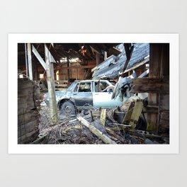 car crash  Art Print