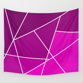 Pink Line Pattern Wall Tapestry