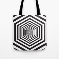 hexagon Tote Bags featuring Hexagon by Vadeco