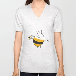Bee the Painter Unisex V-Neck