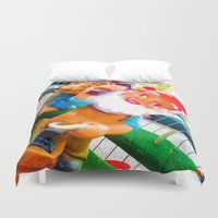 gnome Duvet Covers featuring Gnome Lover by Cristhian Arias-Romero
