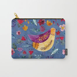 The Early Bird in Flower Garden Carry-All Pouch
