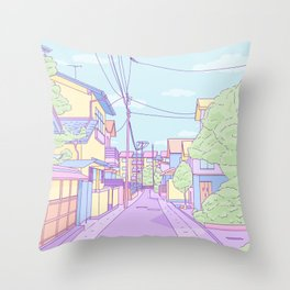 Lost in Japan Throw Pillow