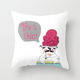 Tre`s Chic Throw Pillow