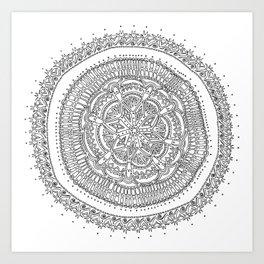 Realizing on White Background Art Print