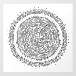Realizing on White Background Art Print