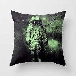 Brand New deja entendu in green hue Throw Pillow