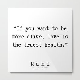 134    | Rumi Quotes | 190221 Metal Print