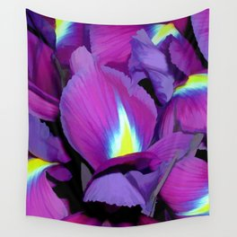 Purple Irises Wall Tapestry