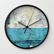 Fairbanks Abstract Light Blue White Wall Clock