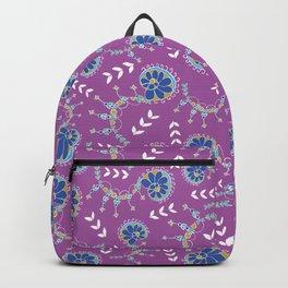 Delicate swirls Pixie Garden design Backpack
