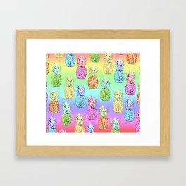 Pineapple Rainbow Framed Art Print