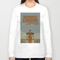 moonrise kingdom Long Sleeve T-shirts featuring Moonrise Kingdom by FunnyFaceArt
