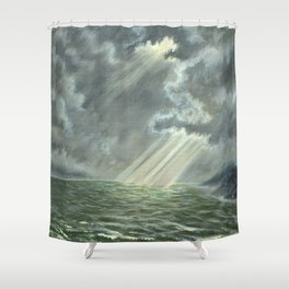 Sunbeams and Rolling Seas Shower Curtain