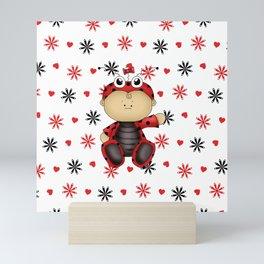 Little Baby Ladybug Mini Art Print