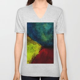 Diptych Pot & Green Wall, Left Side Unisex V-Neck