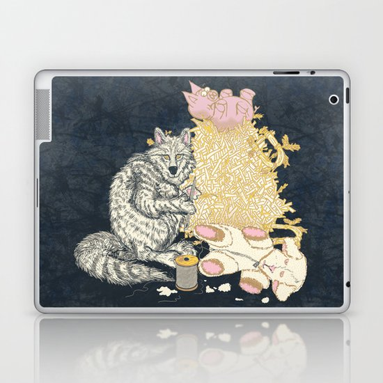 Big Bad Wolf Only Needed a Needle Laptop & iPad Skin